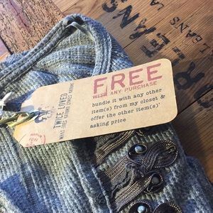 free people thermal FREE WITH A PURCHASE